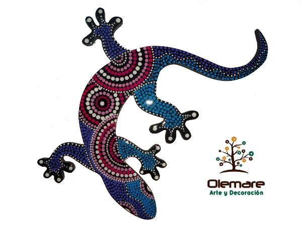 Salamandra Decorativa Olemare Arte Y Decoracion Aboriginal Dot Art Dot Art Painting Dots Art