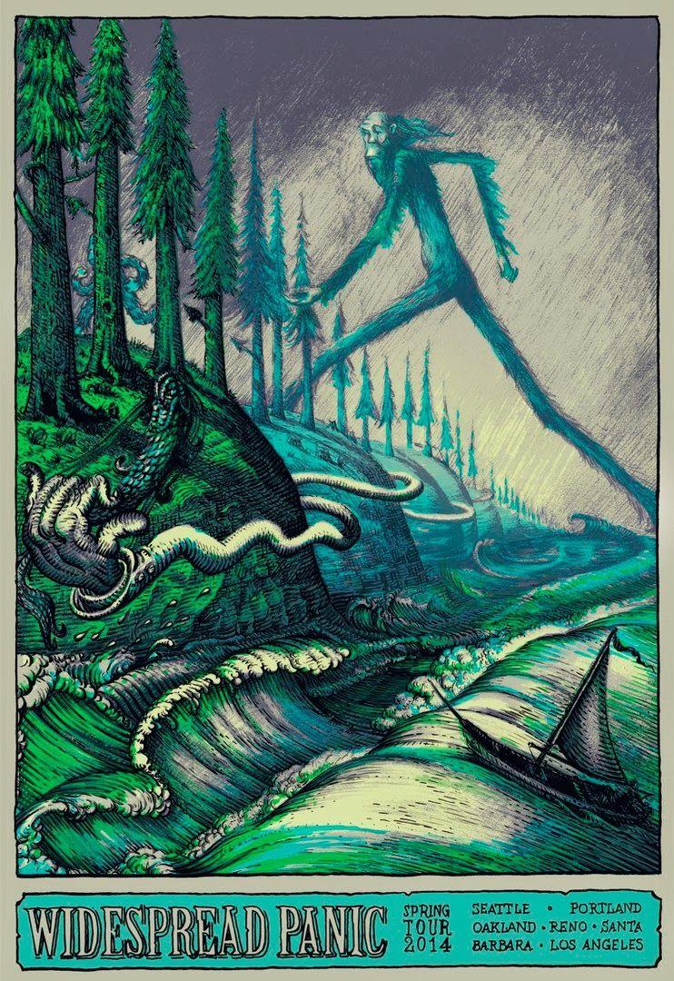 Widespread Panic Los Angeles Concert Poster Art Print