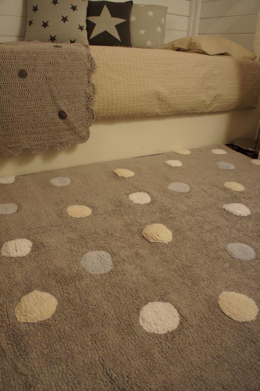TAPIS EN COTON ÉTOILES TAUPE 120X160 - LORENA CANALS sur My - teppich babyzimmer beige