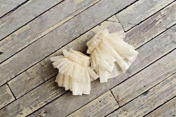Persnickety Clothing - Girls Cuffs in Cream Holiday