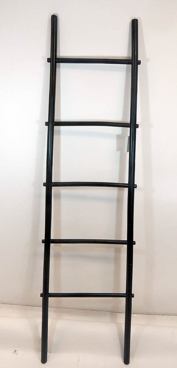 6'H Bamboo Ladder Rack Black Stained by Mastergardenproducts