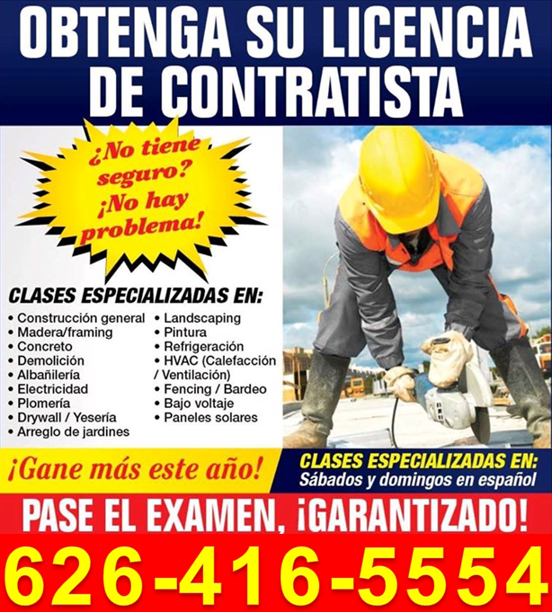 Contractor State License Preparation has 10 years plus of