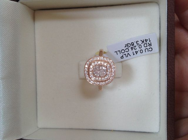 light jext diamond rings engagement pink