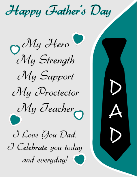 Inkscape Happy Father\'s Day Flyer Template | Love.<3 | Pinterest