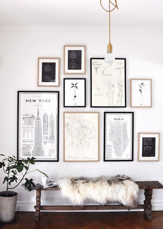 Wall Art Collage finast i veckan; fikonträd, kopparfärg och confettigirlanger