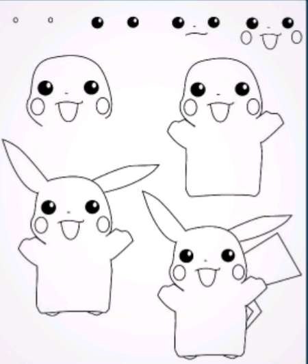 22 Paso dibujos faciles