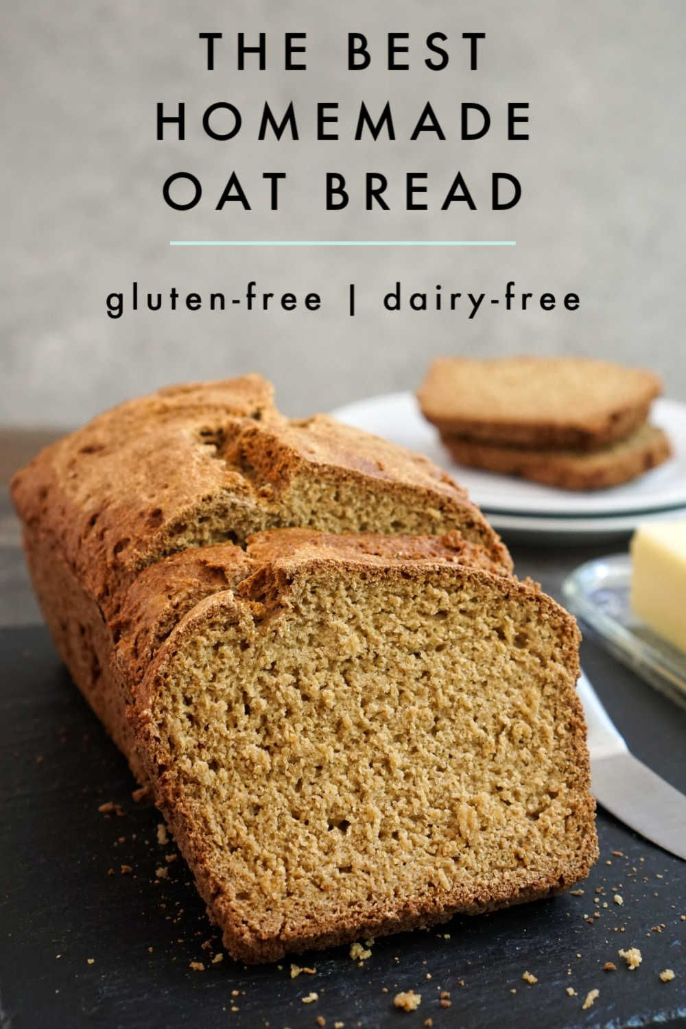 This Gluten Free Oat Bread Is So Hearty And Flavorful It S Simple To Make This Dairy Free Bread Using In 2020 Gluten Free Oat Bread Dairy Free Bread Real Food Recipes