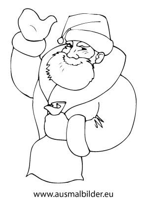 Ausmalbild Winkender Nikolaus Ausmalbilder Weihnachtsmann Ausmalbilder Weihnachten Ausmalbilder