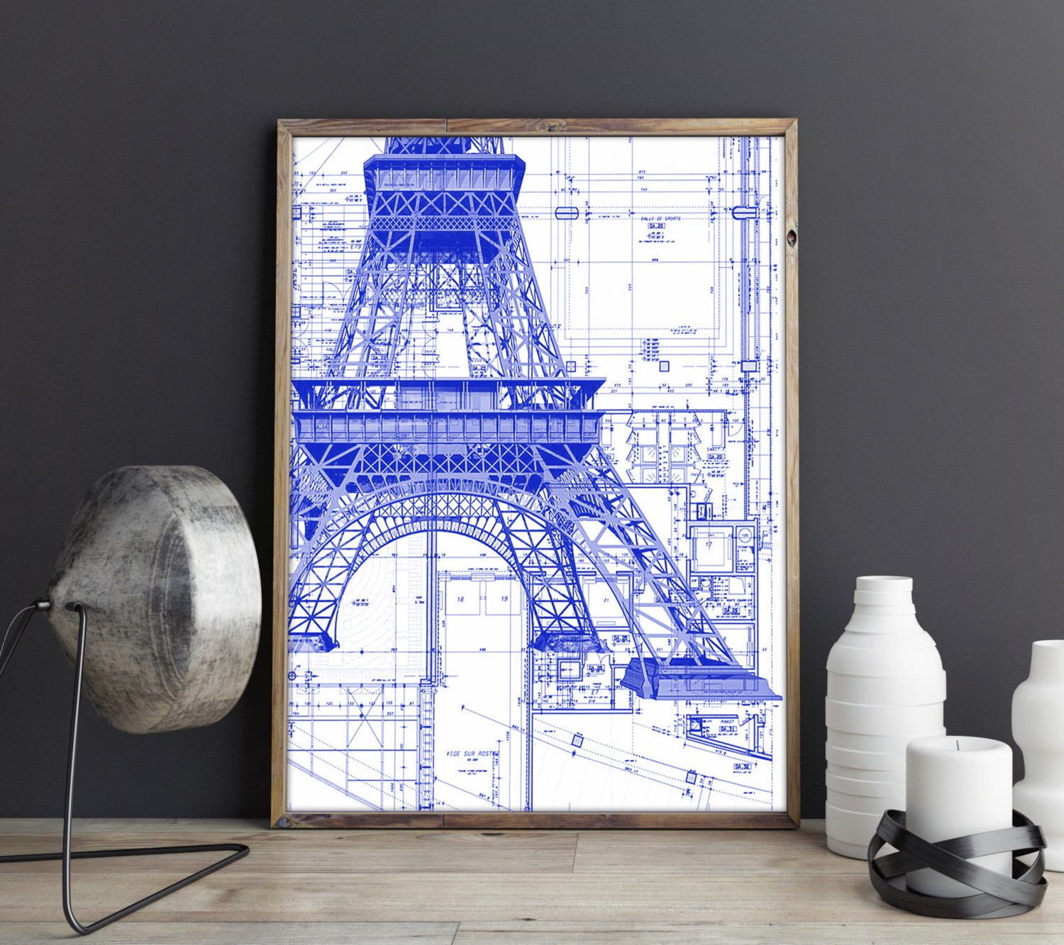 Eiffel Tower Poster, Eiffel Tower Print, Eiffel Tower Blueprint ...