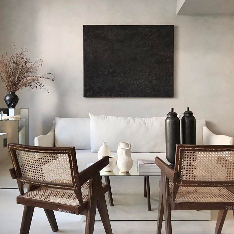 i love the combination of a modern white linen sofa and pierre rh pinterest com