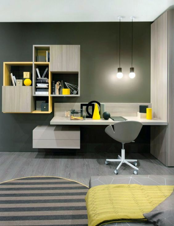 Cool Home Office Desks You Ll Love With Images Furniture Design Home Office Design House Interior