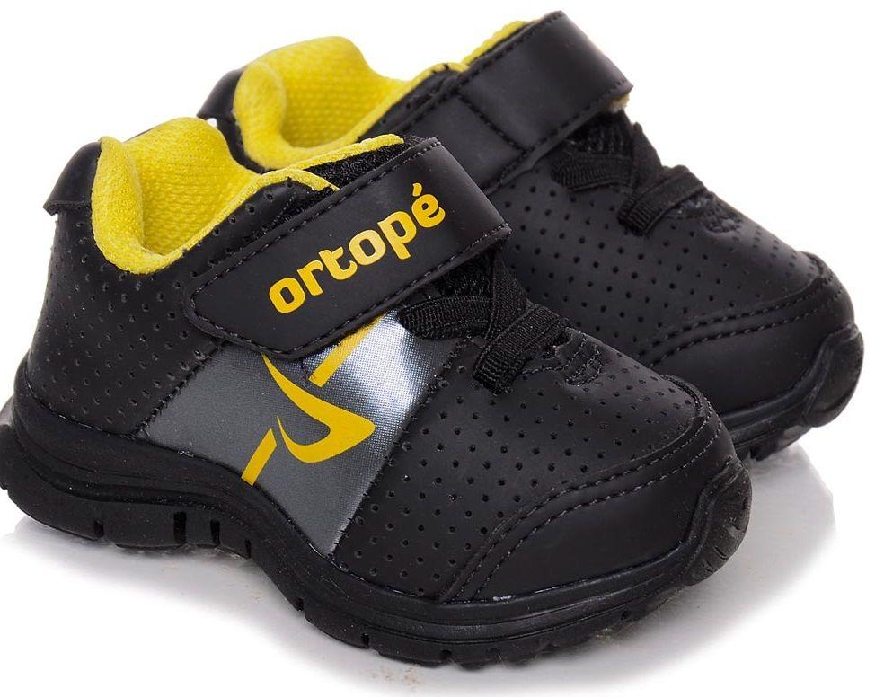 66c254ded ortopé preto tenis-esportivo-para-crianças-calçado-ortopédico-infantil