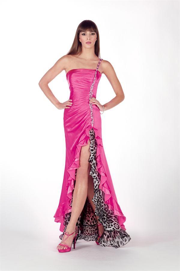 pink animal dress | PROM! | Pinterest | Vestido largo, Vestiditos y ...