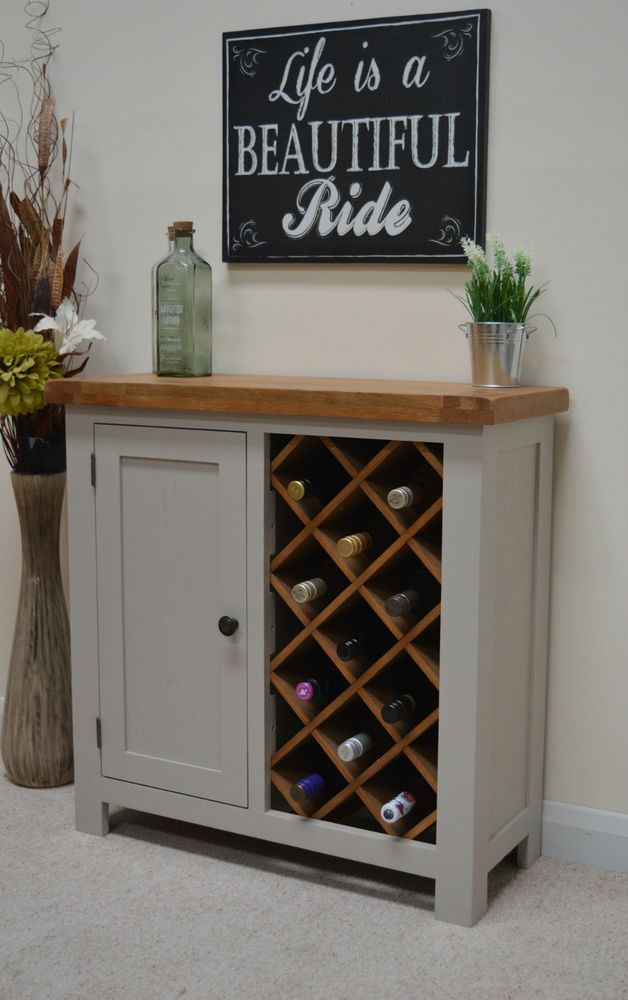 Swainswick Stone Grey Painted Oak Wine Rack With Storage Drinks Cabinet Wine Storage Diy Drinks Cabinet Wine Cabinet Diy