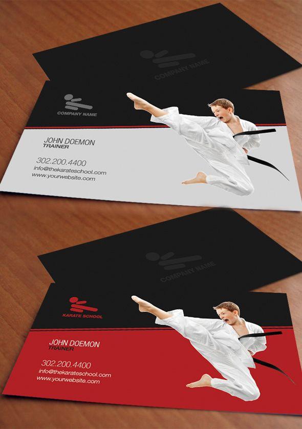 Martial Art Business Card Design By Https Www Bluerhinomedia Com Art Business Cards Business Card Design Art Brochures