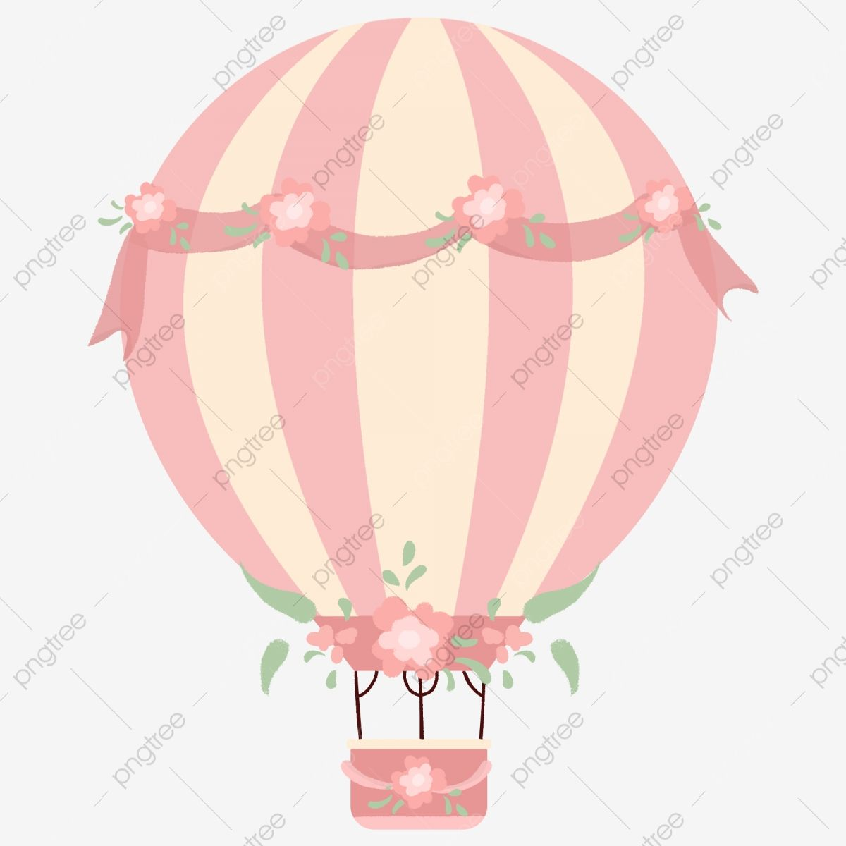 Small Fresh Floral Pink Romantic Hot Air Balloon Balloon Clipart Small Fresh Floral Png Transparent Clipart Image And Psd File For Free Download Hot Air Balloon Clipart Balloon Clipart Air Balloon