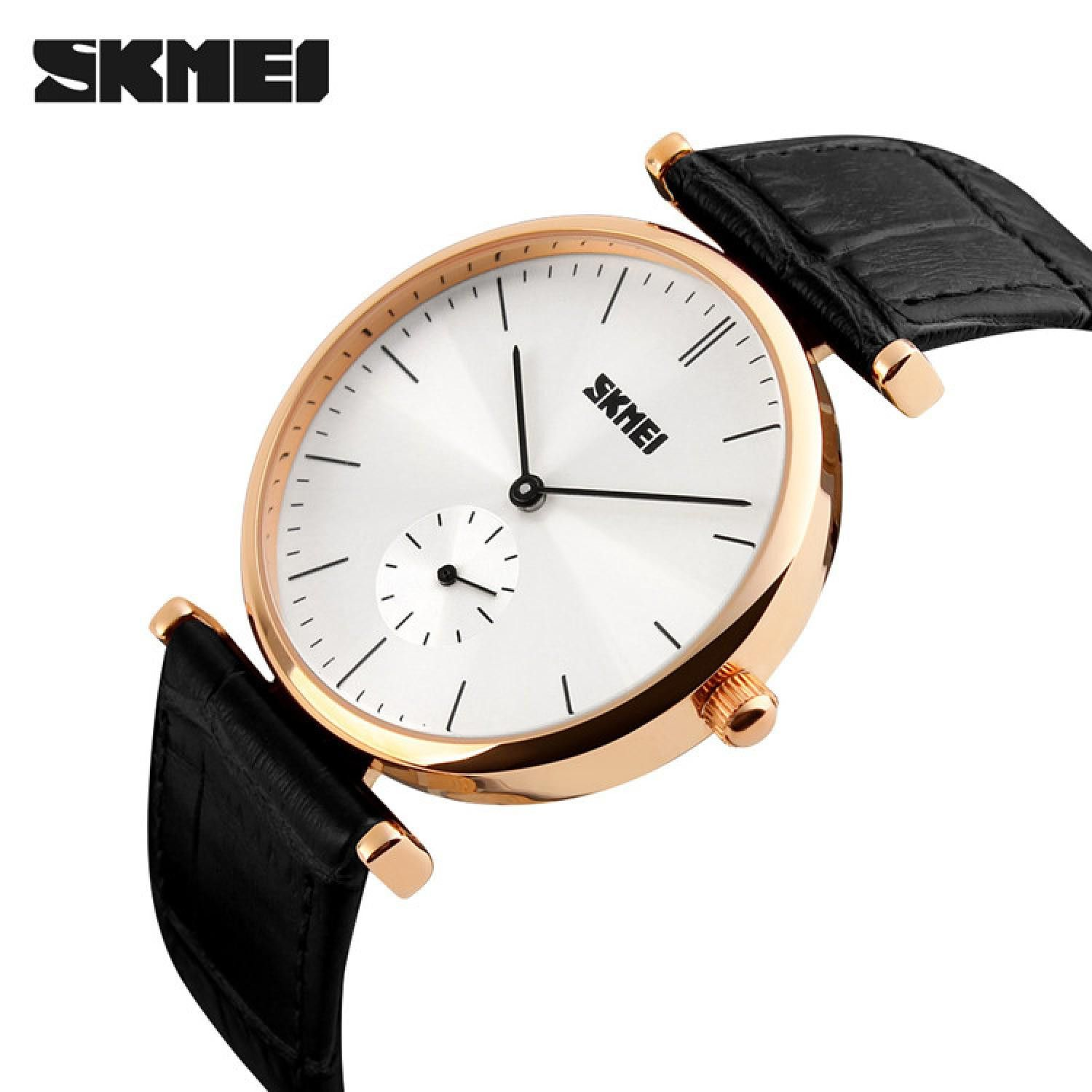 Jam Tangan Pria Skmei Analog Casual Men Leather Watch Original 1175cl