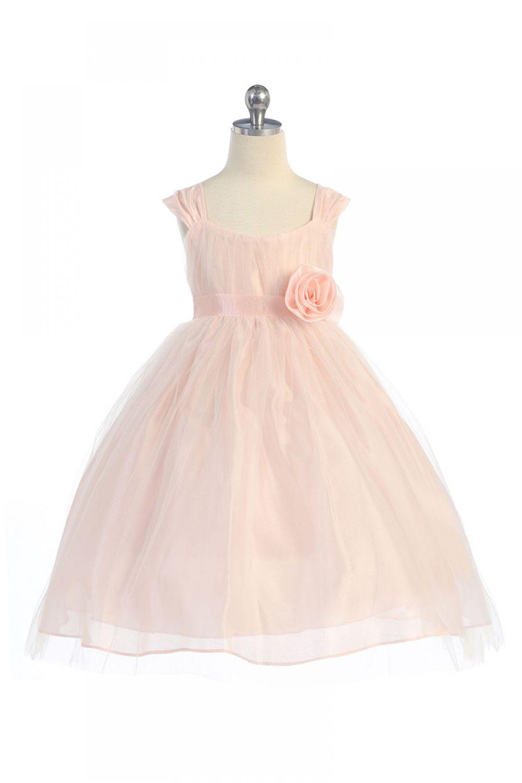 Pink Cap Sleeve Tulle Overlay Flower Girl Dress  BAT  Pinterest