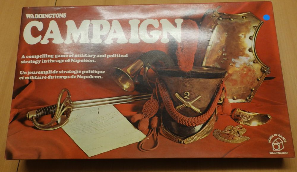 Vintage 1970s Wadingtons Board Game - Campaign - Complete