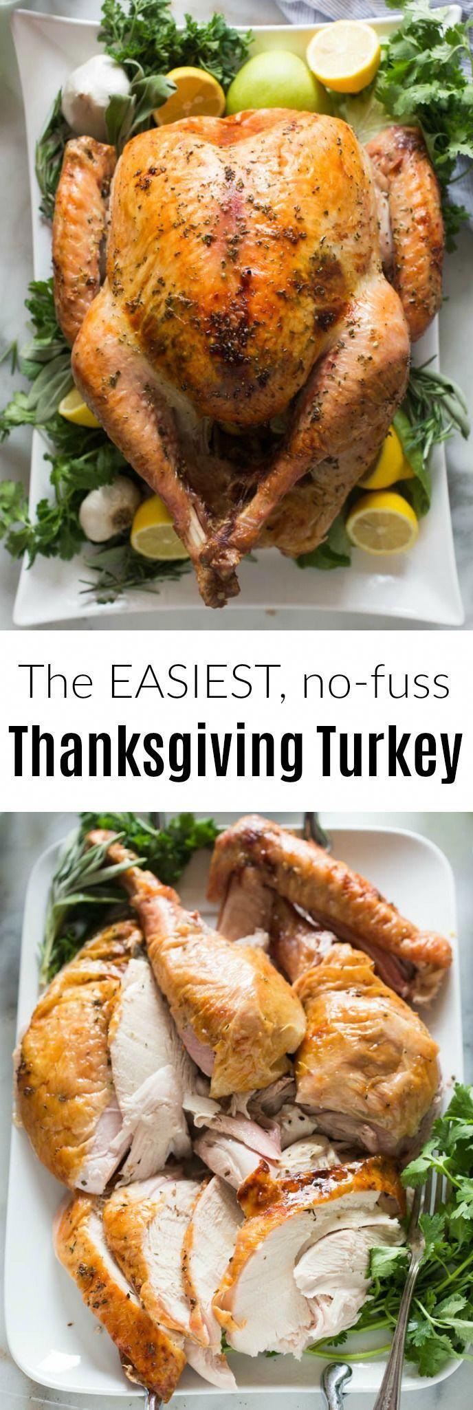 Easy, No-Fuss Thanksgiving Turkey -   19 thanksgiving recipes turkey easy ideas
