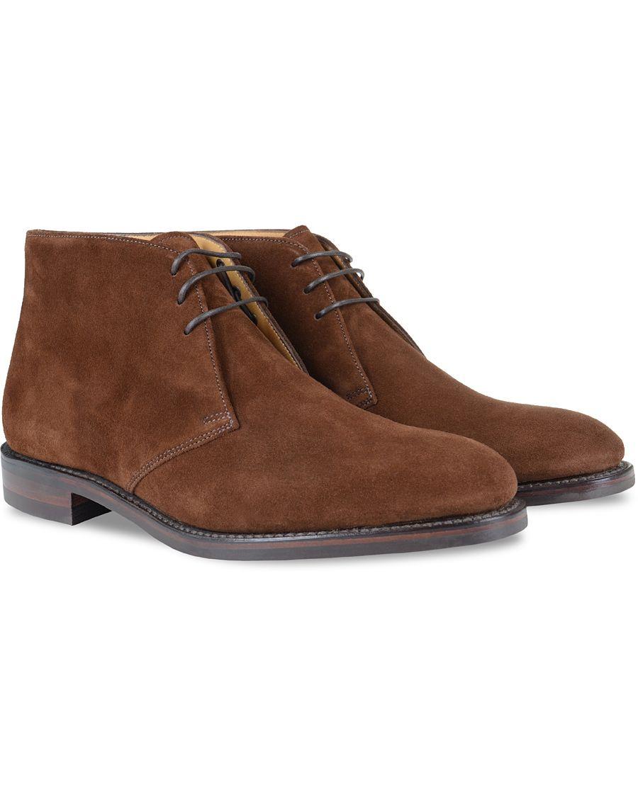 Loake 1880 Kempton Boot Brown Suede hos CareOfCarl.com