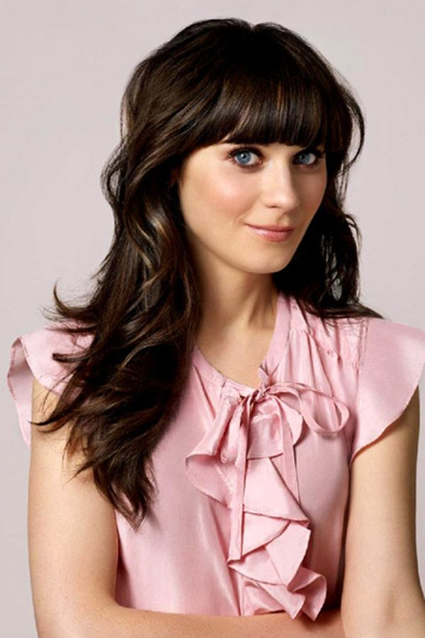 The Secrets Of Zooey Deschanel New Girl Hairstyle Girl Hairstyles Hair Styles Zooey Deschanel Hair