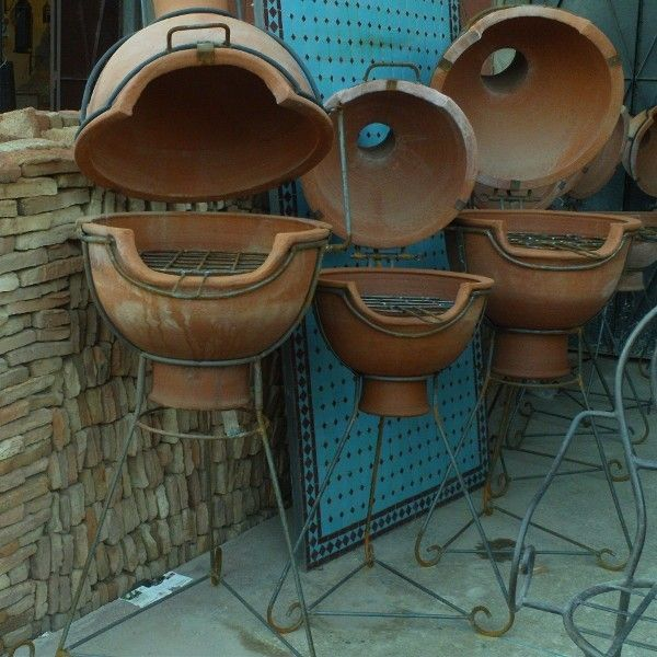 Brasero Terre Cuite barbecue marocain en terre cuite | details everywhere | pinterest