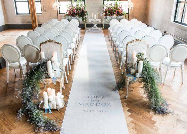 Get The Look New Vintage Wedding Decor Floor Runnersaisle