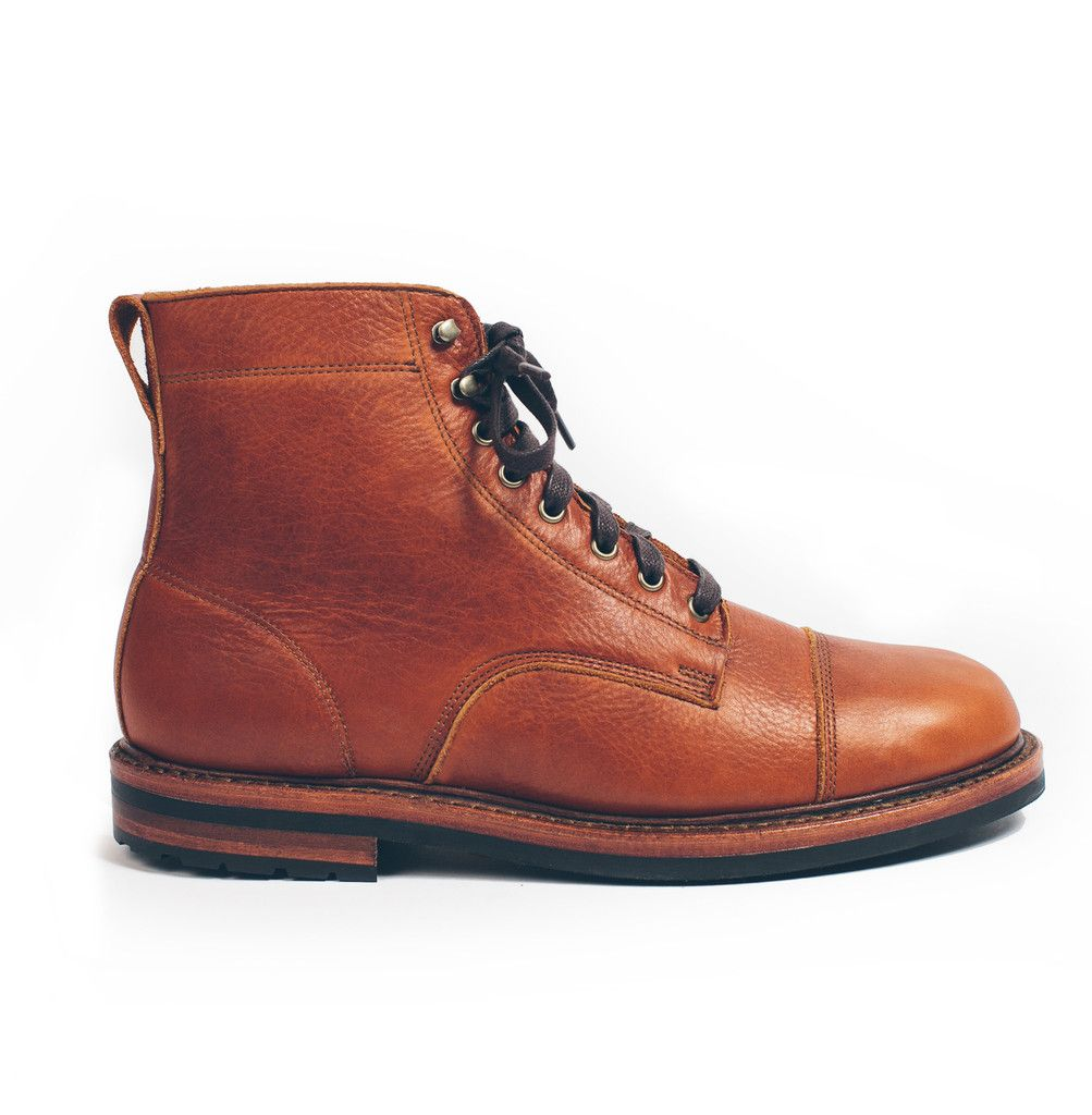 a443114dba71 Taylor Stitch x Rancourt  Moto Boot in Whiskey Steerhide