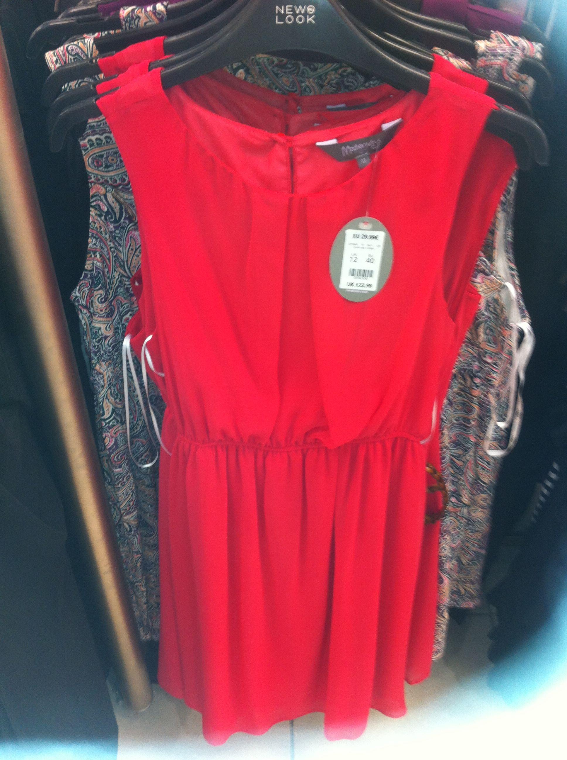 Pretty red chiffon dress.