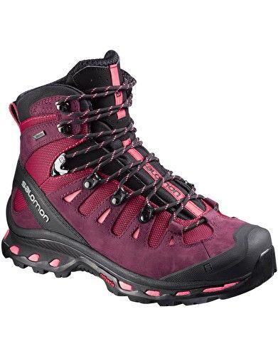 4155b255 Salomon Womens Quest 4D 2 GTX Walking Boot - Lotus Pink   BAD hiking ...