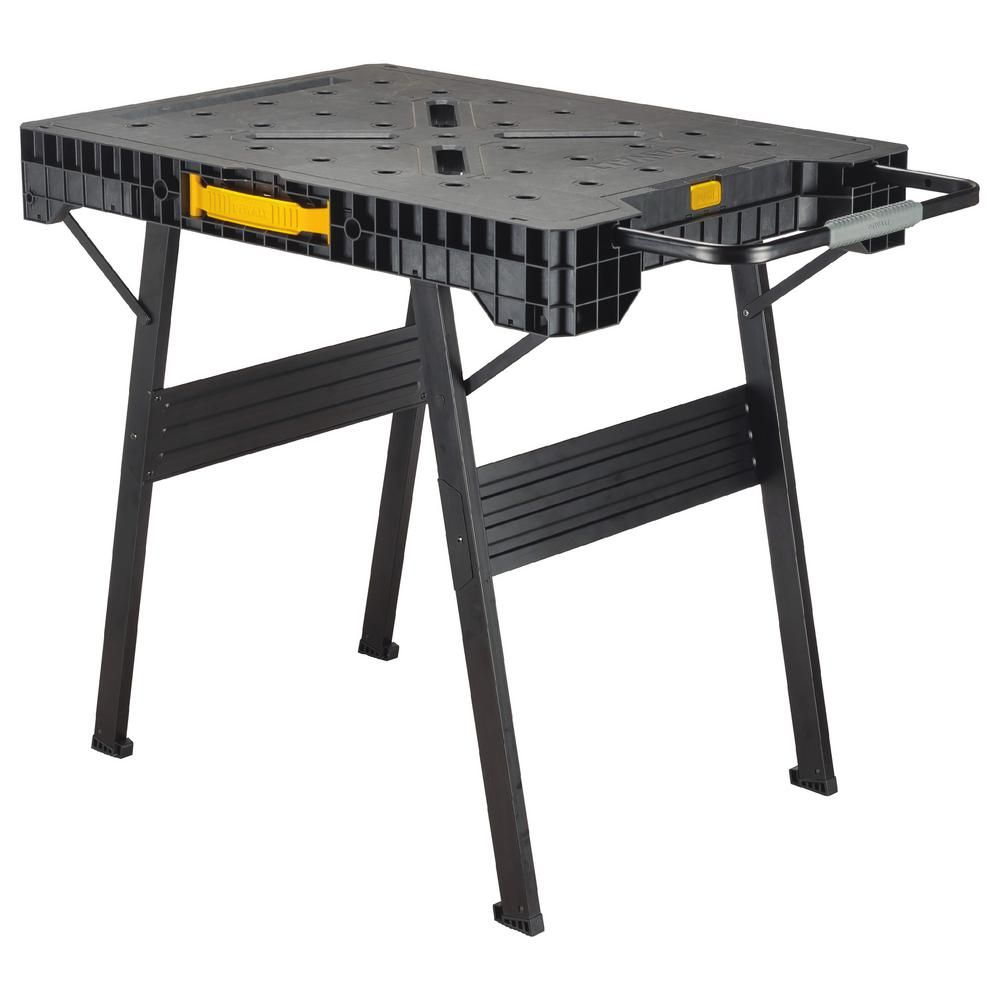 Dewalt 33 in folding portable workbench portable workbench folding portable workbench dwst11556 the home depot keyboard keysfo Images