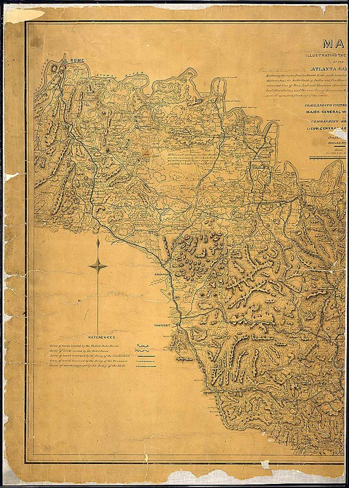 Map Of Jonesboro Georgia.On This Day In 1864 At The Battle Of Jonesboro Georgia General