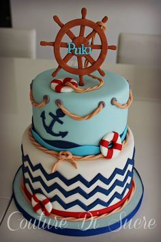 Nautical Cake Baby Shower Bear   Google Search