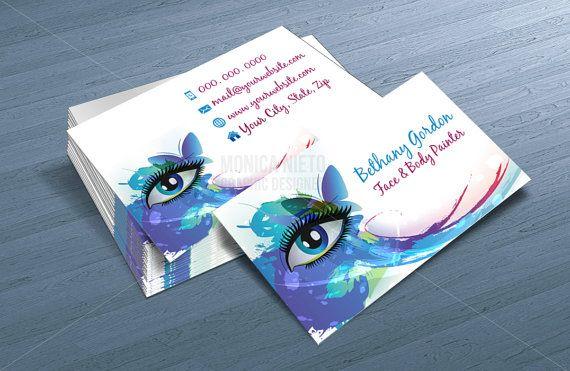 Custom printable face painter business card template makeup artist custom printable face painter business card template accmission Gallery