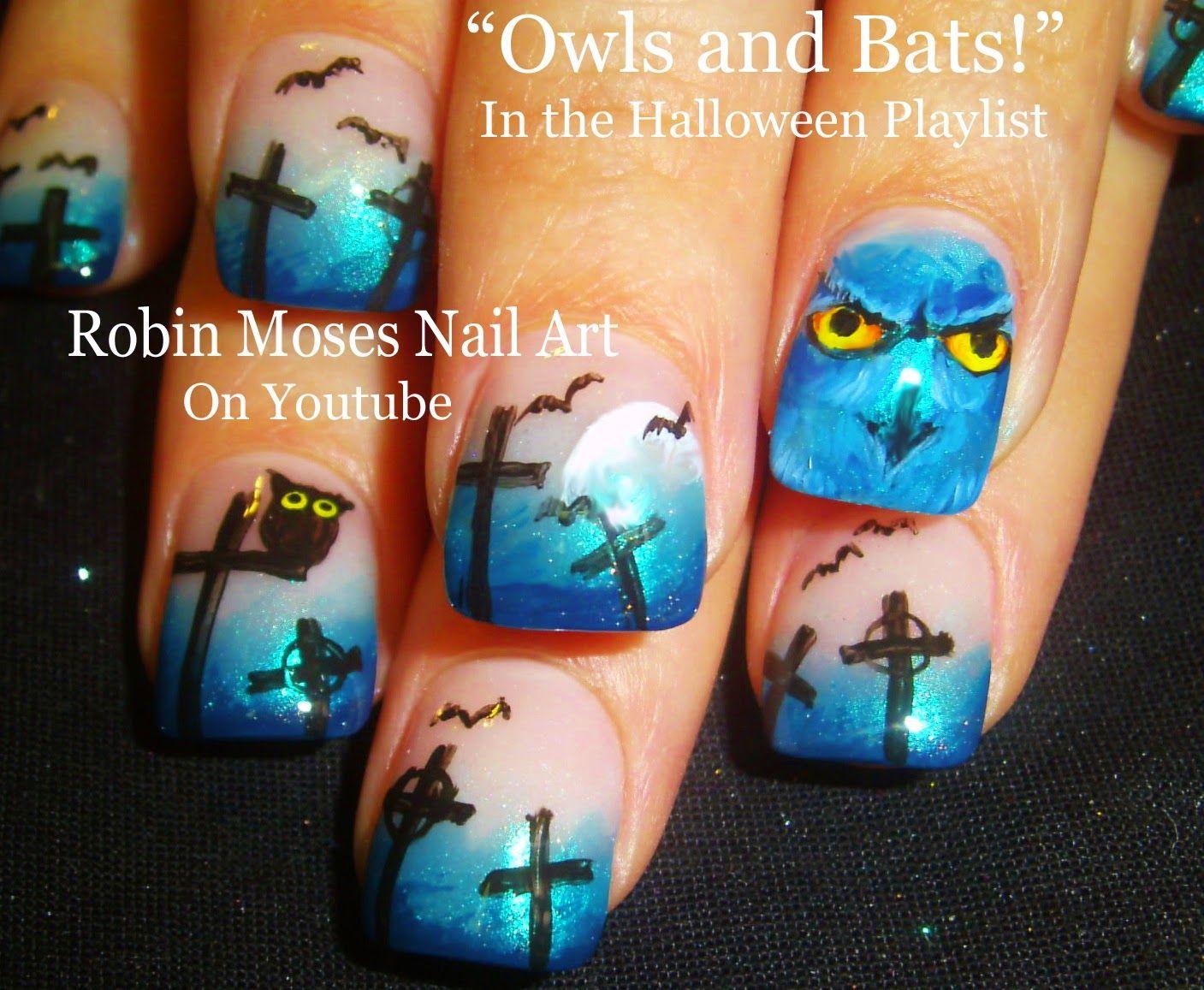 """owl nails"" ""halloween nails"" ""cute halloween nails"" ""cute halloween art"" ""halloween clip art"" ""halloween nail art"" ""black cat nails"" ""bat nails"" ""spiderweb nails"" ""fall nail art"" ""cute halloween designs"""