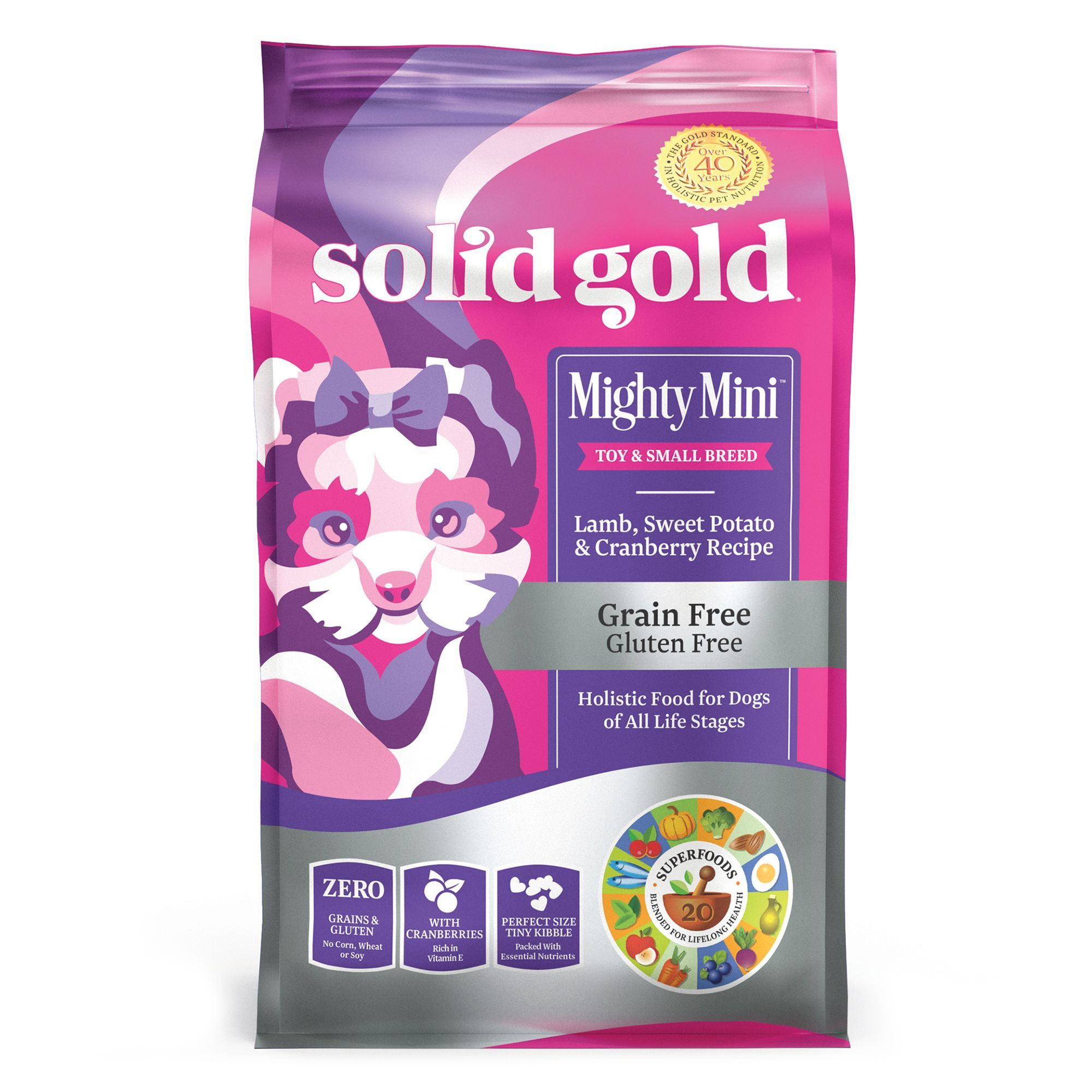 Solid Gold Mighty Mini Toy And Small Breed Dog Food Grain Free