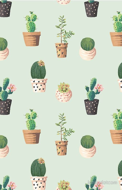 Cactus Pattern Iphone Case By Junkydotcom In 2018 P A T T E R N S - Cactus-bonitos