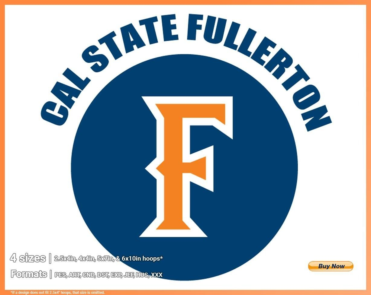 Cal State Fullerton Titans College Sports Embroidery