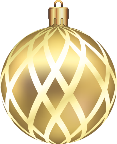 gold christmas ball clipart - Gold Christmas Ornaments