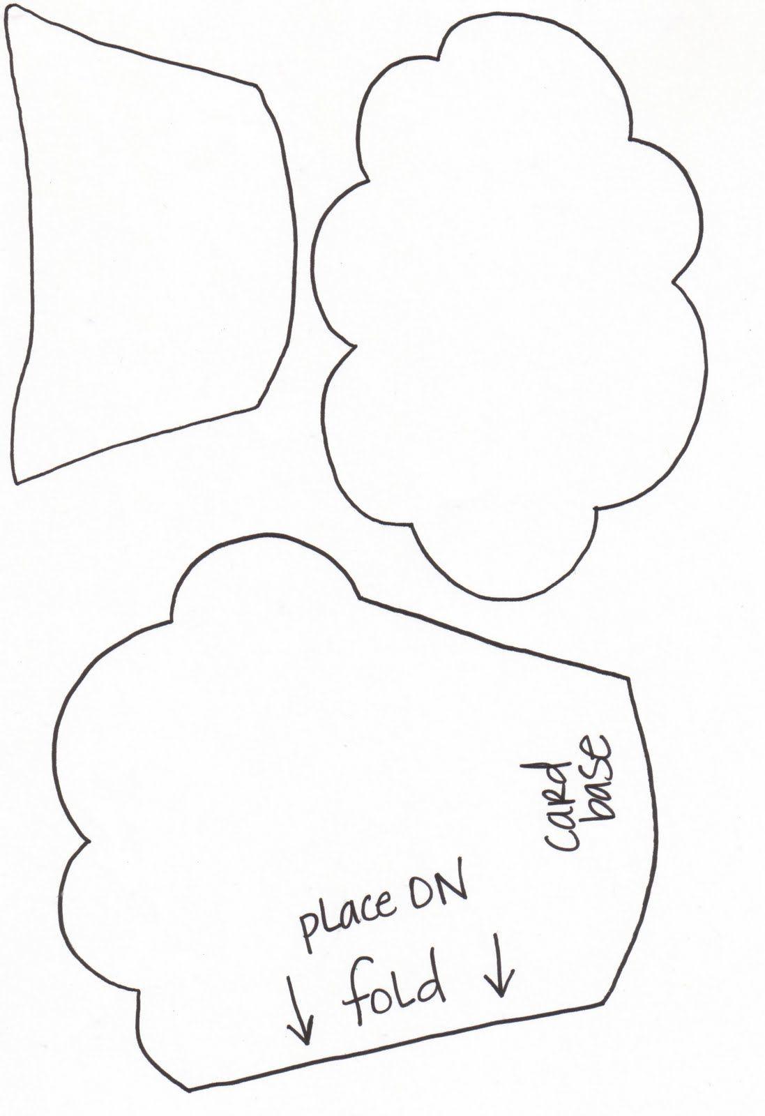 Cupcake Card With Templates | CARTONAJE | Pinterest | Karten machen ...