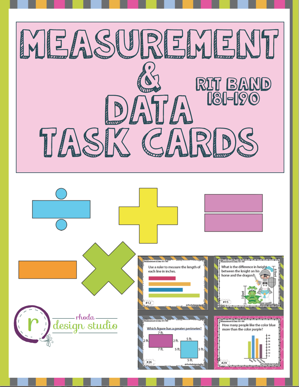 Nwea Map Prep Math Practice Task Cards Measurement Amp Data