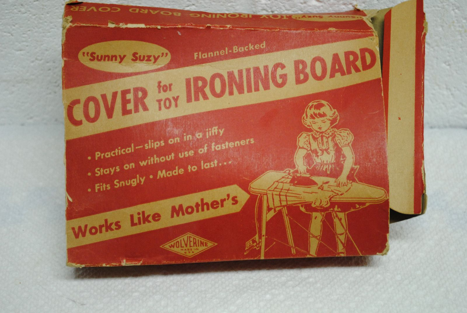 Vintage Sunny Suzy Cover for Toy Ironing Board by Wolverine Original Box | eBay