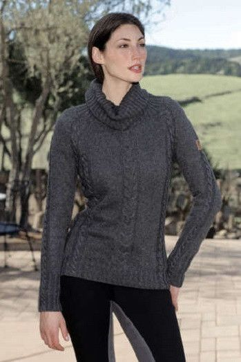CLOSEOUT Goode Rider Comfy Cable Sweater Charcoal Retail $149