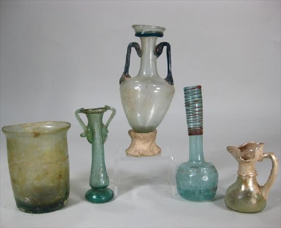 This Group Of Ancient Roman Glass, Circa 1st-6th Century