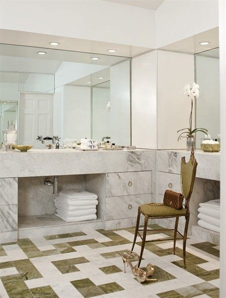 Nice Green And White Marble Kitchen Bath Cottage In Shreveport