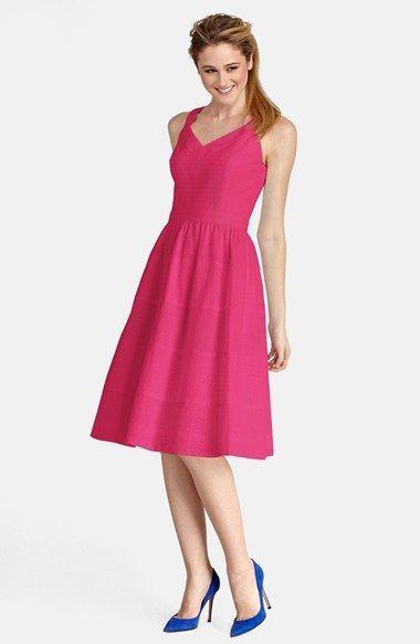 Donna Morgan Eyelet Cotton Fit Flare Dress