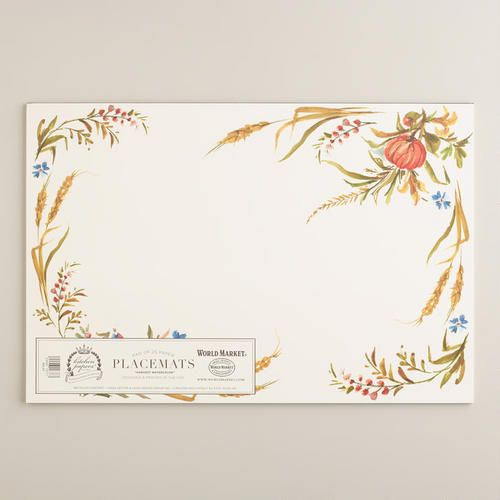 Harvest Watercolor Kitchen Papers Kraft Placemats Book At