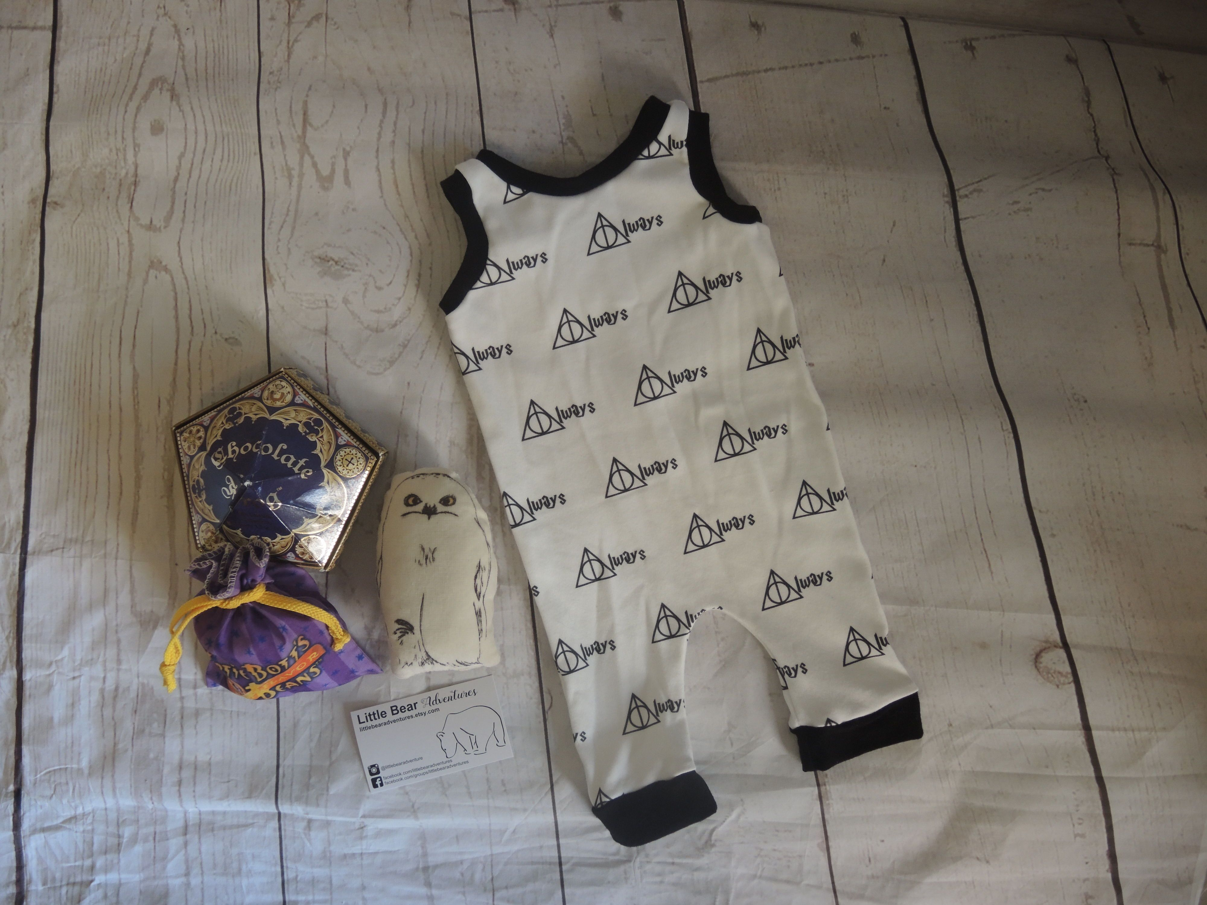 e8c69d86c Harry Potter Deathly Hallows Always organic baby romper - perfect for  parents of the newest Potter Generation! #harrypotterbaby #organicbaby