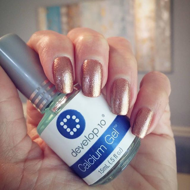 Metallic mani by @lashenny21nails using Develop 10 Calcium Gel as base and top coat! ・・・ #Develop10 #nailtreatment #CalciumGel #DeMert #DeMertBrands ▪Brand: @revlon #revlon ▪Shade: #fallmood #manicure #LaShenny21Nails #nailart #nailswag #notd #nailsoftheday #nailstagram #nailsofinstagram #nailspiration #nailart #nailgram #instanails #nailpolishaddict #instagood #naildesign #strongnails #nails2inspire #naturalnails #rosegold #copper #nails #manicure